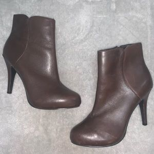 Nine West Leather Brown High Heeled Boots 6.5